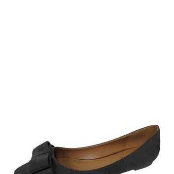 HETTY BOW ACCENT FLATS - BLACK