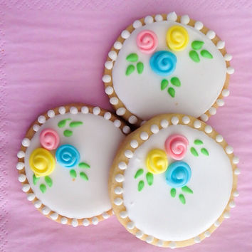 Decorated cookies gift box, valentines day cookie gift, birthday gift box cookie gift floral cookies