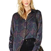 Fill Me In Silk Blouse