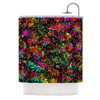 "Ebi Emporium ""Prismatic Posy IV"" Rainbow Floral Shower Curtain"