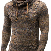 Men Knitted Pullover Hoodie Hooded Sweatshirt