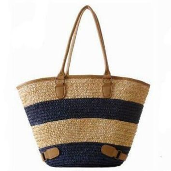 Beach bags Straw Weave Wove Shoulder Tote