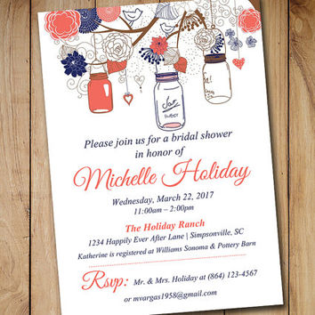 shop coral and blue wedding invitations on wanelo, Wedding invitations