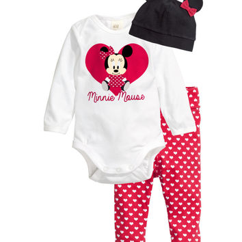 H&M - Jersey Set with Printed Design