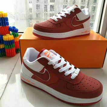 """""""Nike Air Force 1"""" Unisex Sport Casual Multicolor Low Help Shoes Sneakers Couple Plate Shoes"""