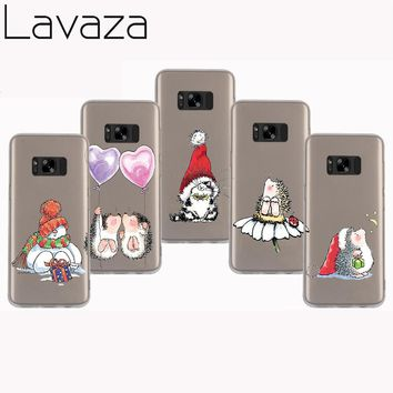 Lavaza 35SP Christmas cute hedgehog Hard Case Cover for Samsung Galaxy 9 8 Plus S7 S6 edge S5 S4 S3 Grand Prime