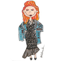 Little Vivienne Westwood Illustration