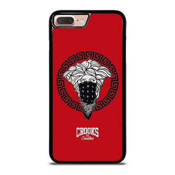 CROOK AND CASTLES BANDANA RED iPhone 8 Plus Case