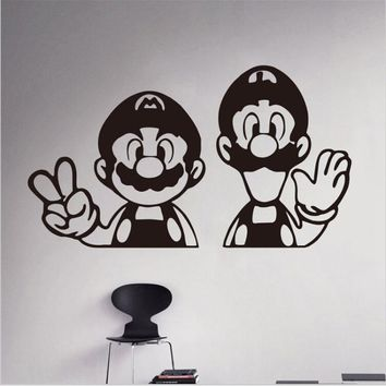 2017 New Carton Super Mario Vinyl Decal Home Decoration Children Nursery Room Removable Wall Stickers Free Shipping