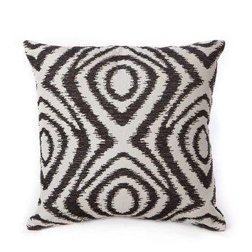 Stratford Home 18x18 Chenille Decorative Throw Pillows, Set of 2 (Black)