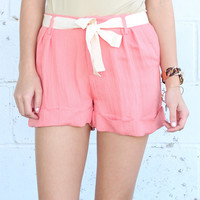 Darlin' Bow Shorts {Coral}