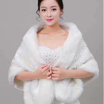 [19.99] In Stock Fanstic Faux Fur Wedding Shawl - dressilyme.com