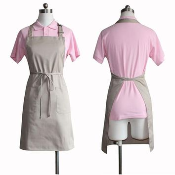 simple Antifouling cotton kitchen cooking apron coffee shop Manicure shop work apron No fading No pilling pinafore Tablier