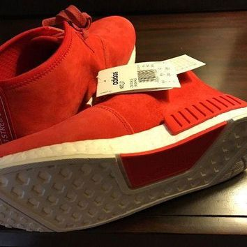 ESBON8Y Adidas Nmd C1 Lush Red Suede Chukka Us Men's Size 7. Women's 8.
