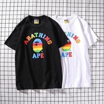 Short Sleeve Couple Stripes T-shirts [1276626599972]