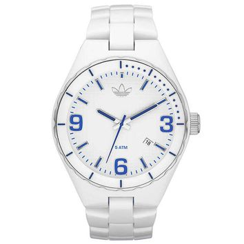 Adidas ADH2591 Unisex Cambridge Blue Accents White Plastic Watch