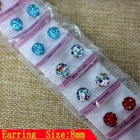 12 Pair Women's Men Elegant Charm Crystal Ear Stud High Quality Magnetic Magnet Earrings Ear Studs Fashion Jewelry Gift Unisex