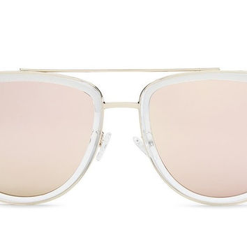 Quay French Kiss Clear / Rose Sunglasses