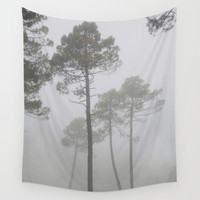 """Wind traces"". Forest dreams Wall Tapestry by Guido Montañés"