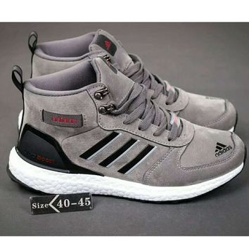 One-nice™ Adidas Ultra Boost Women Men Running Sport Casual Shoes Sneakers Grey I-HAOXIE-ADXJ