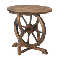 Rustic Wooden Wagon Wheel Table
