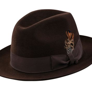 Gold 6 Suede Fedora by Selentino