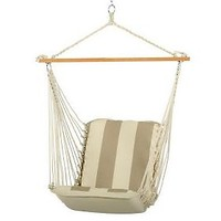 Pawleys Island Cushioned Single Swing - TrellisGarden Stripe — QVC.com