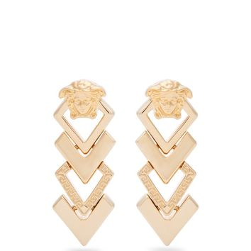 Medusa tiered drop earrings | Versace | MATCHESFASHION.COM US