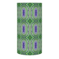 Blue Green Leaves Abstract Pattern Flameless Candle