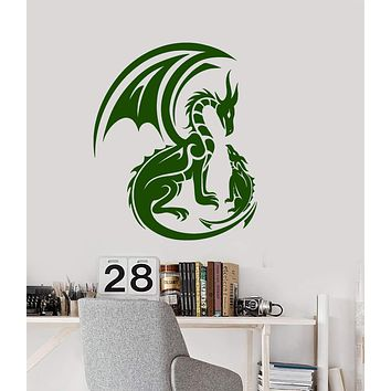 Vinyl Wall Decal Fantasy Dragons Fairy Tale Nursery Decor Stickers (2833ig)