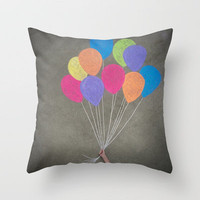 Up up and away Throw Pillow by Skye Zambrana | Society6