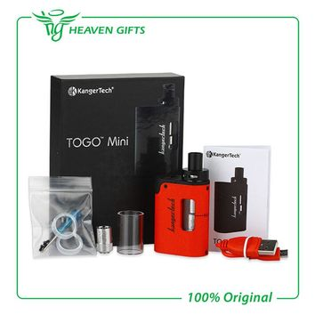 Original Kangertech TOGO Mini Starter Kit 1600mAh 3.8ml Tank with new symmetrical air flow design and 5 LED battery indicator