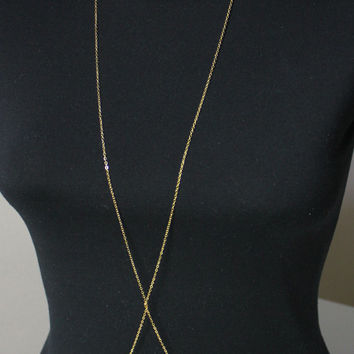 RIHANNA - inspired Gold Plated Body Chain