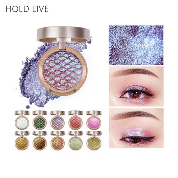 New HOLD LIVE Single Matte Eyeshadow Palette Gold Green Purple Pigment Glitter Polarized Light Eye Shadow Pallete Korean Makeup