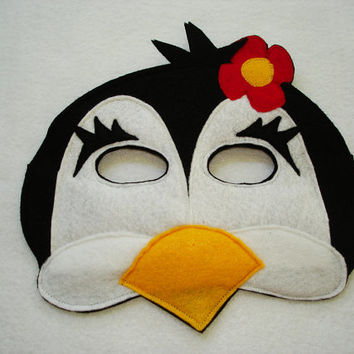 PENGUIN Animal Felt Mask for Girls