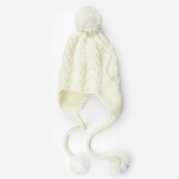Adelaide Cable Pom Pom Knit Hat