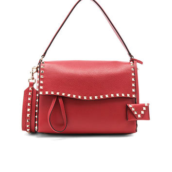 Valentino Rockstud Single Handle Bag in Red | FWRD