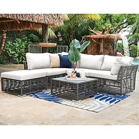 Panama Jack® Graphite 6-Piece Outdoor Sectional Set in Grey