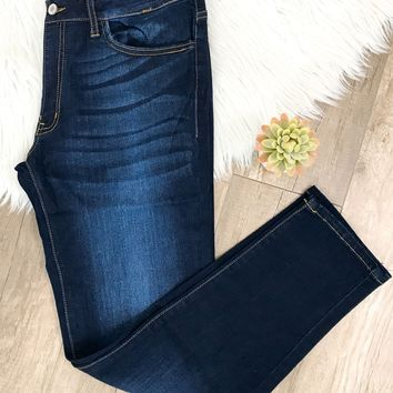 Curves- Kan Can Dark Wash Skinny Jeans