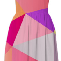 Pink Polygons created by House of Jennifer | Print All Over Me