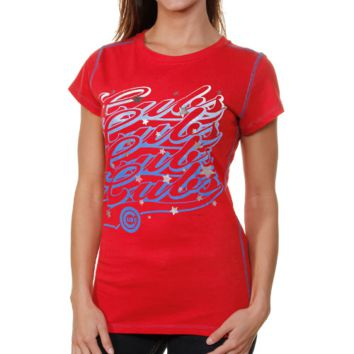 Chicago Cubs Baby Ladies Jersey Stars T-Shirt - Red