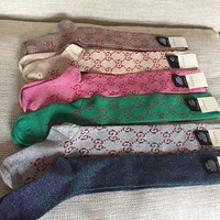 GUCCI Fashion Lurex interlocking G socks G