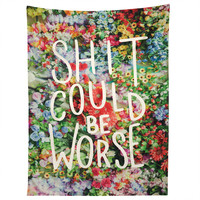 Craft Boner Shit could be worse floral typography Tapestry