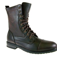 Polar Fox Men's 801026 Calf High Military Lace Up Combat Boots