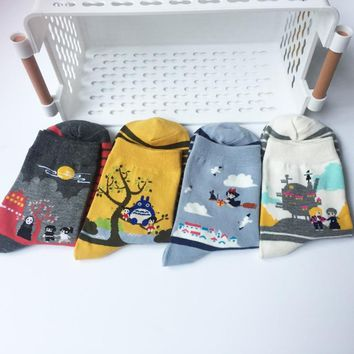 2018 new Japanese cartoon cartoon socks fashion casual tide socks men and women cute couple in the tube socks