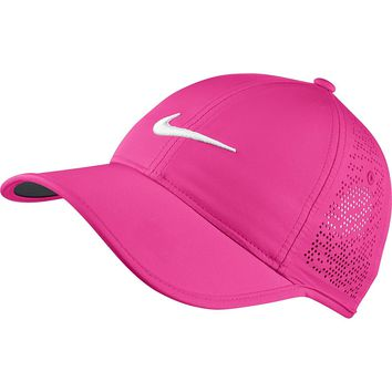 Nike Women's Golf Cap (Variety Of Colors Available) (Hyper Pink/Anthracite/White)