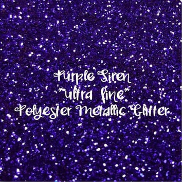 PURPLE SIREN - GLITTER - Polyester Metallic - 1oz - 2oz - 4oz - 8oz - craft supply - sparkles - bling - crafts - nail art - nail polish