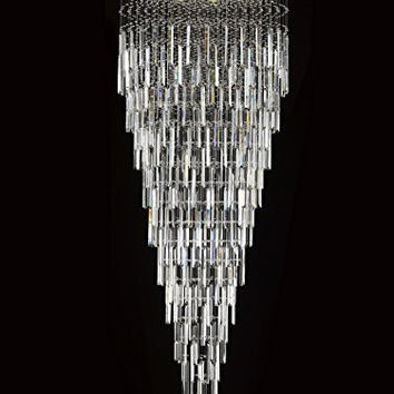 "Modern Contemporary Chandelier ""Rain Drop"" Chandeliers Lighting with Crystal Bars! W 36"" X H 90"" - F93-B28/815/22"