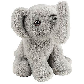 5 Inch Stuffed Elephant Calf Zoo Animal Plush Floppy Animal Kingdom Babies Collection