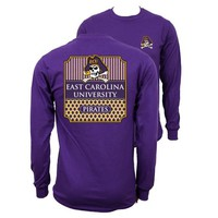 Southern Couture University of East Carolina ECU Pirates Classic Preppy Long Sleeve T-Shirt